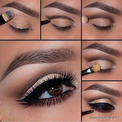 آموزش آرایش,آرایش صورت,آرایش چشم گریم,مدل های آرایش چشم,مدل آرایش چشم