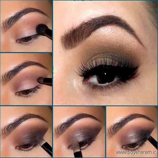 مدل های آرایش چشم,مدل آرایش چشم,آرایش چشم قهوه ای,آرایش چشم بنفش,آرایش چشم97