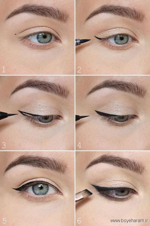 آموزش آرایش انواع چشم,میکاپ چشم,آموزش میکاپ چشم