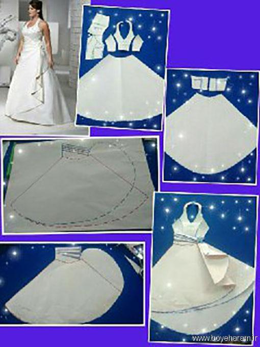آموزش دوخت لباس مجلسی زنانه,دوخت لباس عروس,آموزش دوخت لباس عروس,دوخت دامن