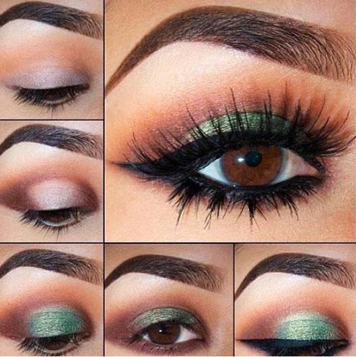 جدیدترین مدل های آرایش,آرایش عروس,آرایش چشم زیبا و جدید,آرایش چشم جدید