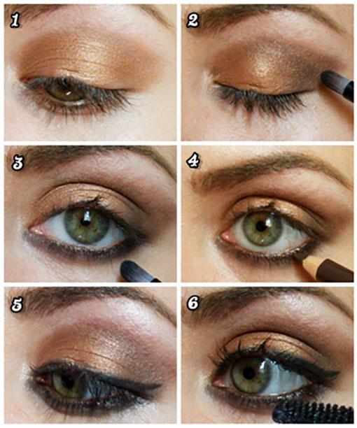 آرایش چشم جدید عربی,آرایش جدید چشم ریز,مدل آرایش چشم جدید,آموزش آرایش