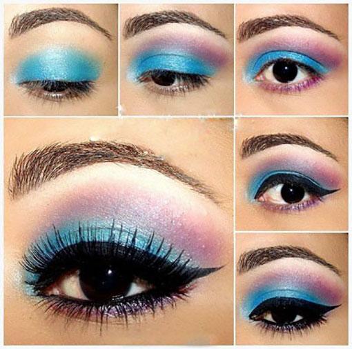مدل آرایش چشم جدید,آموزش آرایش,آرایش صورت,آرایش چشم گریم