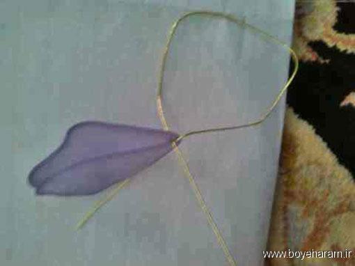 دسته گل عروس,مدل گل کریستالی,ساخت تصویری گل نیلوفر کریستالی