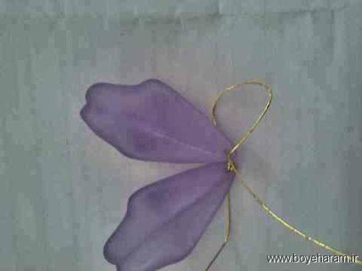 ساخت تصویری گل نیلوفر کریستالی ,آموزش ساخت  گل کریستالی , گل کریستالی