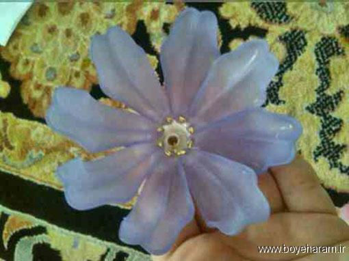 ساخت گل کریستالی,آموزش ساخت گل نیلوفر کریستالی,نحوه ساخت گل کریستالی