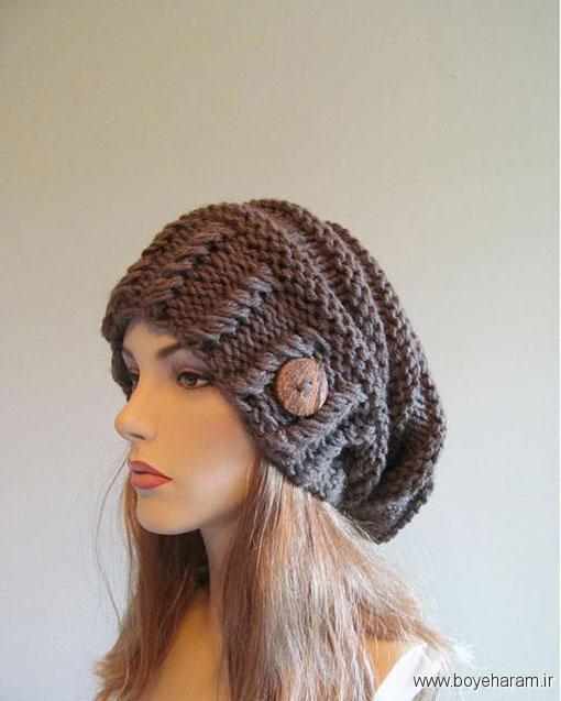 آموزش بافت کلاه زنانه,روش بافت کلاه زنانه