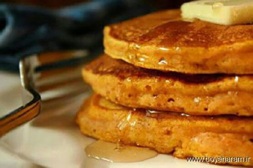 آموزش دستور پخت انواع پنکیک,آموزش درست کردن پنکیک کدوحلوایی,طرز تهیه پنکیک
