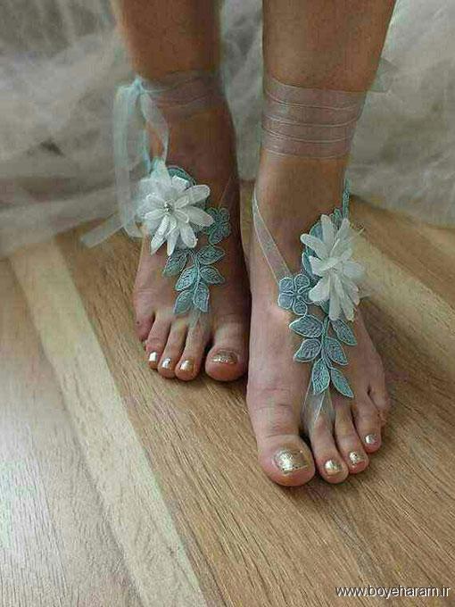 مدل پابند انگشتی سفید,جدیدترین مدل های پابند انگشتی عروس,شیکترین مدل های پابند گیپور زنان