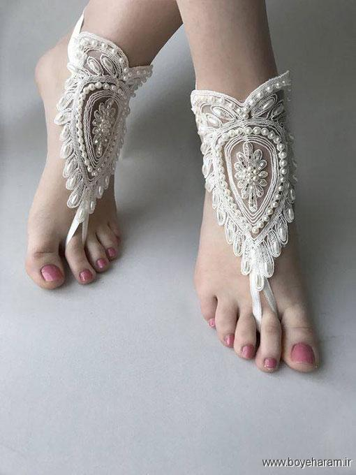 مدل پابند انگشتی سفید,جدیدترین مدل های پابند انگشتی عروس,شیکترین مدل های پابند گیپور زنانه,جذاب ترین مدل های پابند ژله ای زنانه