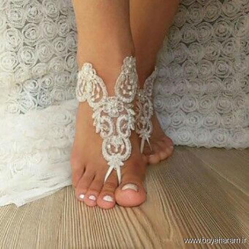 مدل پابند انگشتی سفید,جدیدترین مدل های پابند انگشتی عروس,شیکترین مدل های پابند گیپور