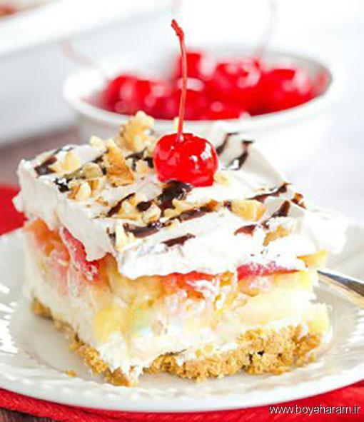 آموزش دستور پخت انواع دسر بیسکوییتی,آموزش درست کردن کیک بدون فر,طرز تهیه دسر بیسکوییتی