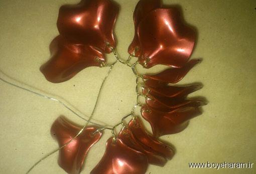 مدل جدید گل رز کریستالی,روش ساخت گل کریستالی ساده,آموزش ساخت گل رز کریستالی