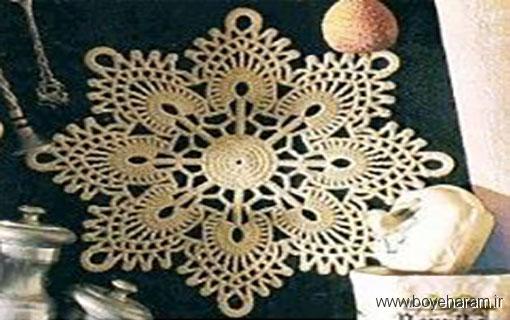 آموزش رومیزی با نخ کاموا,آموزش انواع رومیزی,آموزش مدل های جدید رومیزی
