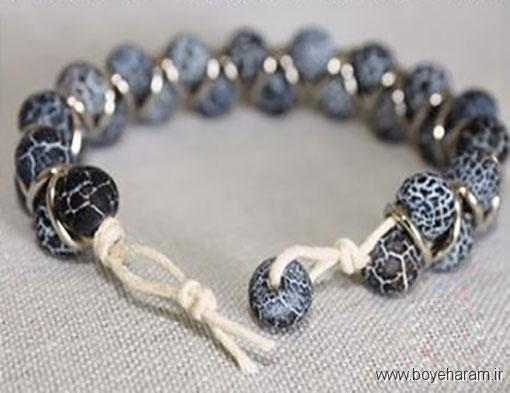 آموزش درست کردن دستبند سنگ ماه تولد,آموزش ساخت دستبند کریستالی