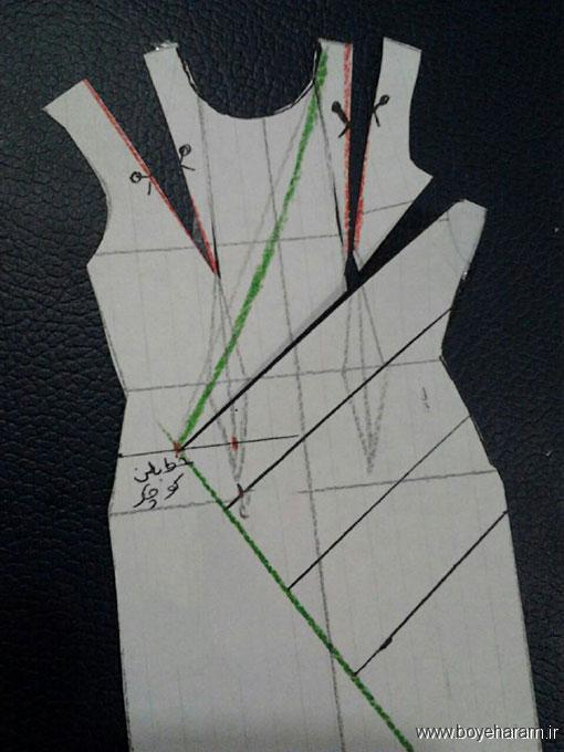 آموزش کشیدن الگو یقه چپ راست,آموزش کشیدن الگو یقه آمریکایی,آموزش درست کردن لبس یقه آمریکایی,آموزش درست کردن لباس یقه چپ و راست