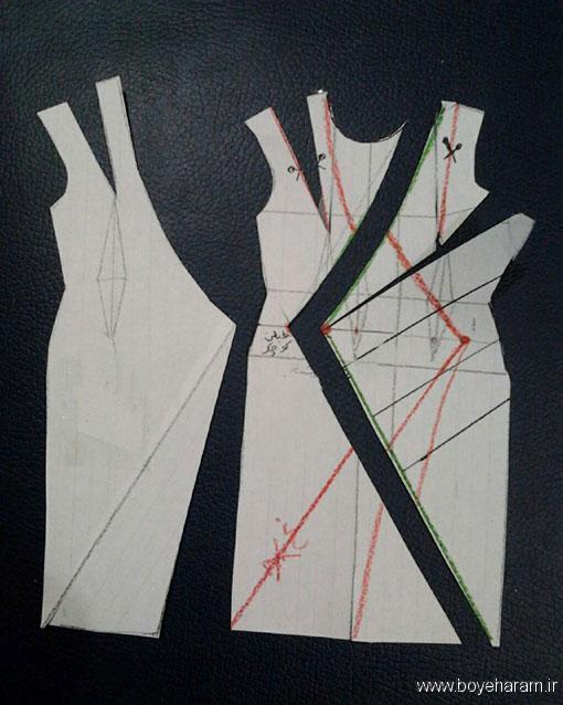 آموزش دوخت لباس مجسی زنانه,آموزش دوخت لباس یقه باز,آموزش خیاطی با پارچه های مختلف,آموزش کشیدن الگو یقه,آموزش کشیدن الگو یقه چپ راست,