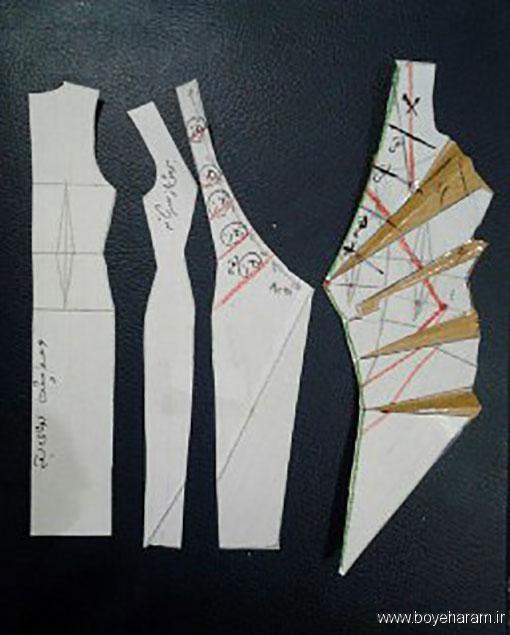 آموزش کشیدن الگو یقه آمریکایی,آموزش درست کردن لبس یقه آمریکایی,آموزش درست کردن لباس یقه چپ و راست