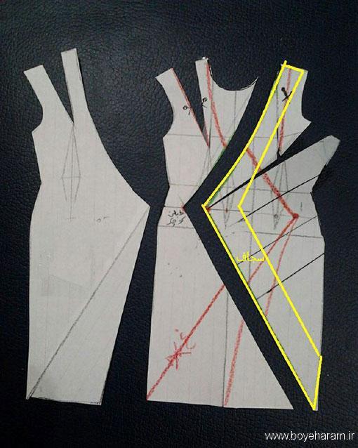 آموزش خیاطی با پارچه های مختلف,آموزش کشیدن الگو یقه,آموزش کشیدن الگو یقه چپ راست,آموزش کشیدن الگو یقه آمریکایی,آموزش درست کردن لباس یقه آمریکایی
