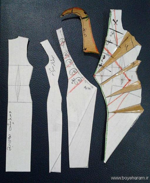 آموزش دوخت لباس یقه آمریکایی,آموزش دوخت یقه چپ وراست,آموزش دوخت یقه چپ و راست آمریکایی,آموزش دوخت لباس مجسی زنانه