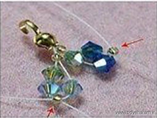 آموزش ساخت دستبند,آموزش درست کردن دستبند,آموزش درست کردن دستبند کریستالی,آموزش دستبند با منجوق,
