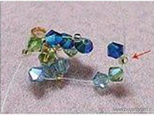 آموزش درست کردن دستبند با مهره کریستالی,آموزش ساخت دستبند با مهره سنگی,آموزش ساخت دستبند تزیینی