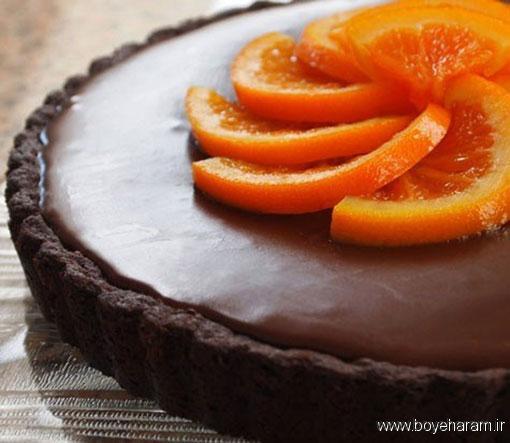 شیرینی پزی,آموزش کیک پرتقالی,آموزش پخت کیک پرتقالی با روکش گاناش