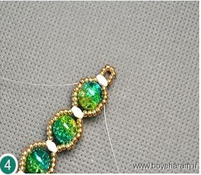 آموزش دستبند کریستالی فانتزی,آموزش درست کردن دستبند فانتزی,نحوه ساخت دستبند اسپورت دخترانه