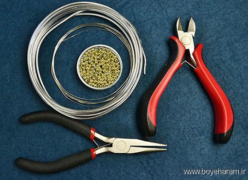 آموزش ساخت دستبند با سیم مفتولی,ساخت دستبند فلزی,روش ساخت دستبند مفتولی,ساخت دستبند اسپورت,