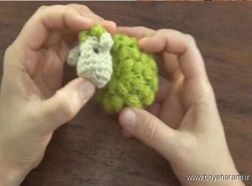 ,آموزش بافت مدل جدید عروسک,آموزش درست کردن عروسک,آموزش درست کردن عروسک گوسفند