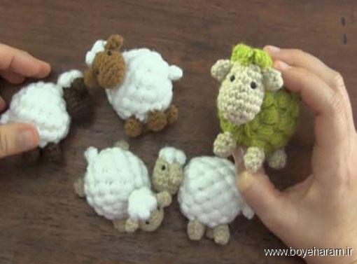,آموزش بافت عروسک گوسفند,بافت عروسک,بافت عروسک بره ناقلا,آموزش بافت مدل جدید عروسک,آموزش درست کردن عروسک