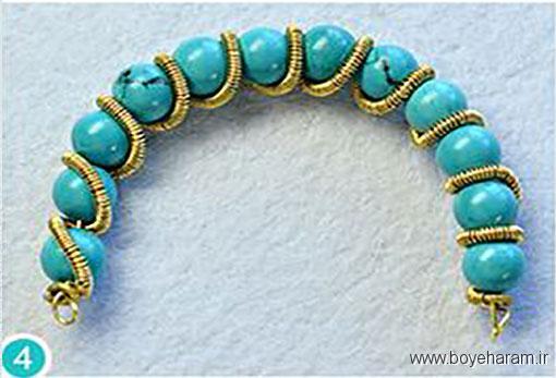 ساخت دستبند فیروزه,روش ساخت دستبند فیروزه,ساخت دستبند اسپورت
