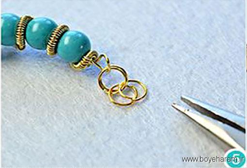 ساخت دستبند اسپورت,آموزش درست کردن دستبند فیروزه ای,آموزش ساخت دستبند کریستالی