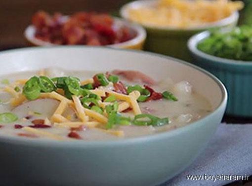 آموزش درست کردن سوپ,آموزش طرز تهیه سوپ سیب زمینی,سوپ سیب زمینی,طرز تهیه سوپ سیب زمینی