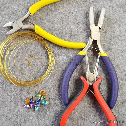درست کردن گوشواره,روش ساخت گوشواره,ساخت گوشواره کلاسیک,آموزش ساخت گوشواره طرح گل