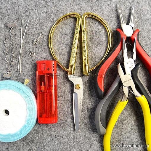 آموزش ساخت کاردستی تزئینی,ساخت گوشواره,آموزش درست کردن گوشواره