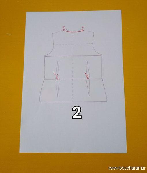 دوخت لباس زنانه,لباس مجلسی زنانه,آموزش دوخت شومیز دخترانه,شومیز یقه چپ و راسته