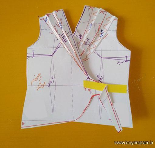 لباس مجلسی زنانه,آموزش دوخت شومیز دخترانه,شومیز یقه چپ و راسته