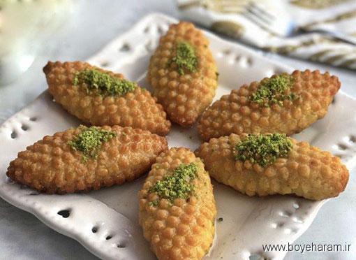 آموزش درست کردن شیرینی ترکی,آموزش کالبورا باستی, کالبورا باستی,دستور پخت کالبورا باستی