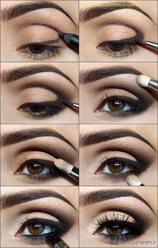 مدل های آرایش,آرایش چشم,آموزش آرایش چشم,آموزش میکاپ چشم