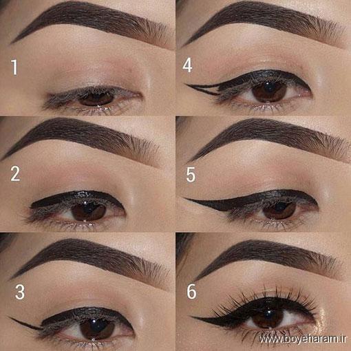 ,آموزش مدل های مختلف آرایش چشم,آرایش های جدید چشم,بروز ترین مدل های آرایش چشم