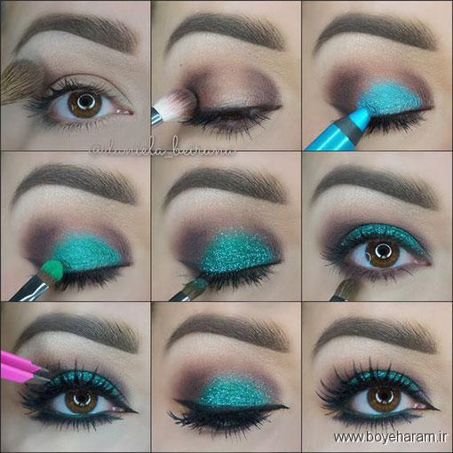 آرایش های جدید چشم,بروز ترین مدل های آرایش چشم,آموزش خودآرایی,آموزش آرایش عربی