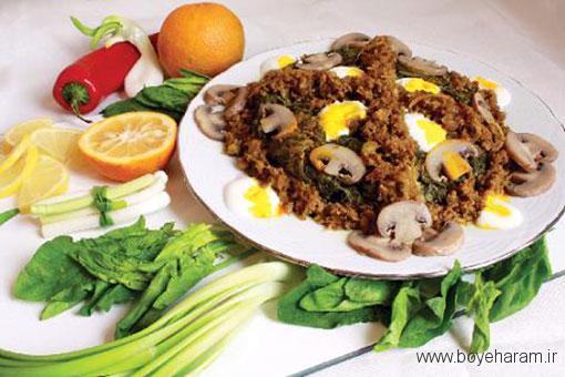 آموزش غذای ایرانی, آموزش نرگسی اسفناج,آموزش طرز تهیه نرگسی اسفناج, نرگسی اسفناج,