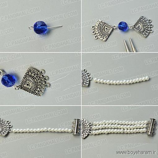 آموزش ساخت دستبند مروارید,ساخت دستبند مروارید,روش ساخت دستبند مروارید