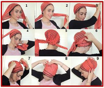 بستن شال,بستن روسری,مدل بستن شال,مدل بستن روسری,مدل های جدید بستن شال,مدل های جدید بستن روسری