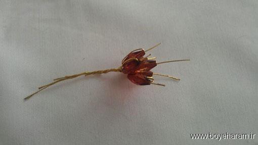 روش ساخت گل لیلیوم کریستالی,ساخت گل کریستالی فانتزی,ساخت دسته گل لیلیوم کریستالی