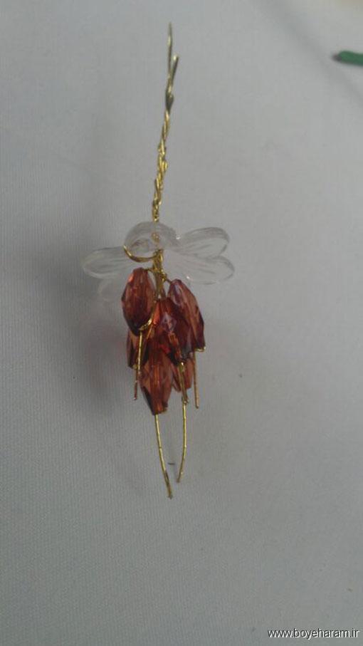 ساخت دسته گل لیلیوم کریستالی,ساخت مدل جدید گل لیلیوم کریستالی
