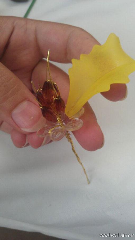 ساخت مدل جدید گل لیلیوم کریستالی,روش ساخت گل کریستالی ساده,آموزش ساخت گل لیلیوم کریستالی ,