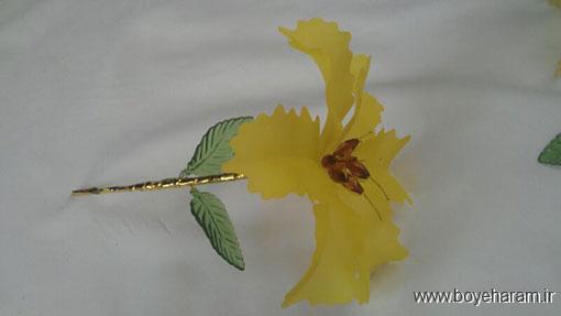 کاردستی تزئینی,ساخت کاردستی تزئینی,آموزش ساخت کاردستی تزئینی,ساخت گل کریستالی,روش ساخت گل لیلیوم کریستالی