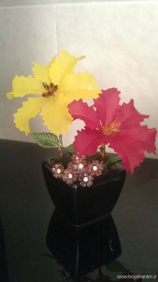 گل کریستال,ساخت گل کریستالی,گل کریستال لیلیوم